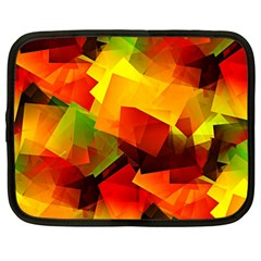 Indian Summer Cubes Netbook Case (large) by designworld65