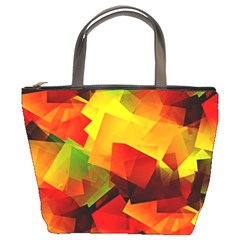 Indian Summer Cubes Bucket Bags by designworld65