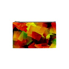 Indian Summer Cubes Cosmetic Bag (small)  by designworld65