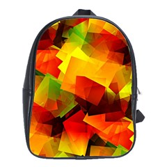 Indian Summer Cubes School Bags(large)  by designworld65