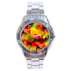 Indian Summer Cubes Stainless Steel Analogue Watch by designworld65