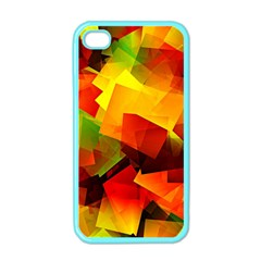 Indian Summer Cubes Apple Iphone 4 Case (color) by designworld65