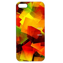 Indian Summer Cubes Apple Iphone 5 Hardshell Case With Stand by designworld65