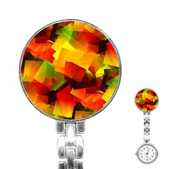 Indian Summer Cubes Stainless Steel Nurses Watch by designworld65