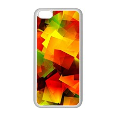 Indian Summer Cubes Apple Iphone 5c Seamless Case (white) by designworld65