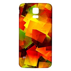 Indian Summer Cubes Samsung Galaxy S5 Back Case (white) by designworld65