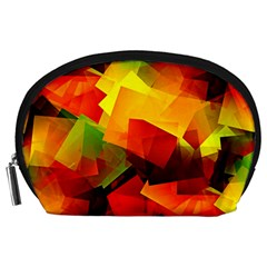 Indian Summer Cubes Accessory Pouches (large)  by designworld65