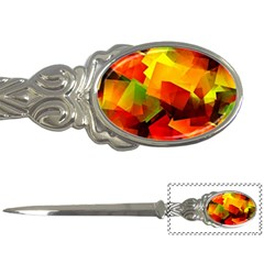 Indian Summer Cubes Letter Openers by designworld65