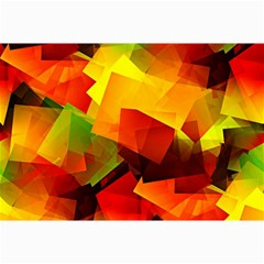 Indian Summer Cubes Collage Prints