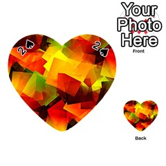 Indian Summer Cubes Playing Cards 54 (heart)  by designworld65