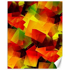 Indian Summer Cubes Canvas 11  X 14   by designworld65