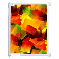 Indian Summer Cubes Apple Ipad 2 Case (white) by designworld65