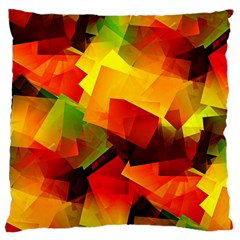 Indian Summer Cubes Large Cushion Case (two Sides) by designworld65