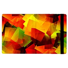 Indian Summer Cubes Apple Ipad 3/4 Flip Case by designworld65