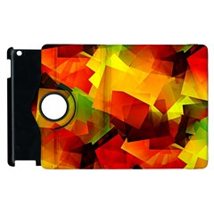 Indian Summer Cubes Apple Ipad 3/4 Flip 360 Case by designworld65