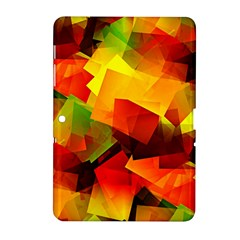 Indian Summer Cubes Samsung Galaxy Tab 2 (10 1 ) P5100 Hardshell Case  by designworld65
