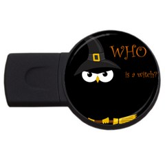 Who Is A Witch? Usb Flash Drive Round (4 Gb)  by Valentinaart