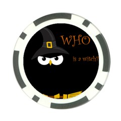 Who Is A Witch? Poker Chip Card Guards by Valentinaart