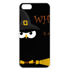 Who Is A Witch? Apple Iphone 5 Seamless Case (white)