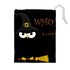Who Is A Witch? Drawstring Pouches (extra Large) by Valentinaart