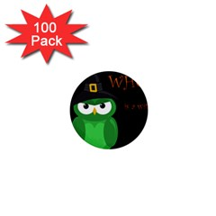 Who Is A Witch?   Green 1  Mini Buttons (100 Pack)