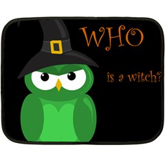 Who Is A Witch?   Green Double Sided Fleece Blanket (mini)  by Valentinaart