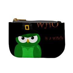 Who Is A Witch?   Green Mini Coin Purses