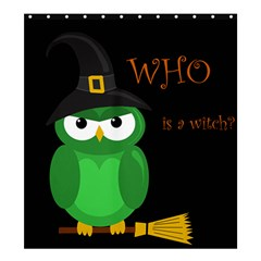 Who Is A Witch?   Green Shower Curtain 66  X 72  (large)  by Valentinaart