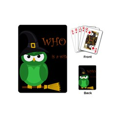 Who Is A Witch?   Green Playing Cards (mini)  by Valentinaart