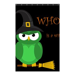 Who Is A Witch?   Green Shower Curtain 48  X 72  (small)  by Valentinaart