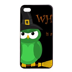Who Is A Witch?   Green Apple Iphone 4/4s Seamless Case (black) by Valentinaart