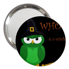Who Is A Witch?   Green 3  Handbag Mirrors by Valentinaart