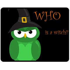 Who Is A Witch?   Green Double Sided Fleece Blanket (medium)  by Valentinaart