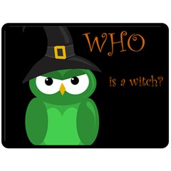 Who Is A Witch?   Green Double Sided Fleece Blanket (large)