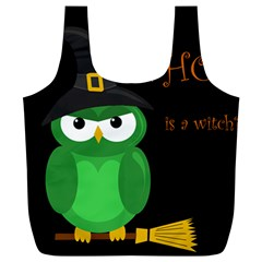 Who Is A Witch?   Green Full Print Recycle Bags (l)  by Valentinaart