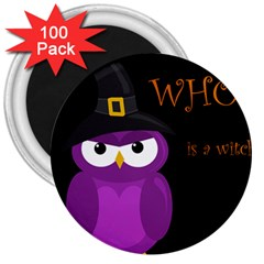Who Is A Witch?   Purple 3  Magnets (100 Pack) by Valentinaart