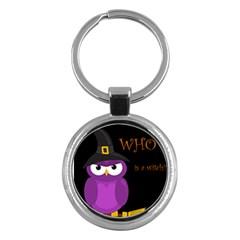 Who Is A Witch?   Purple Key Chains (round)  by Valentinaart