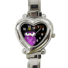 Who Is A Witch?   Purple Heart Italian Charm Watch by Valentinaart