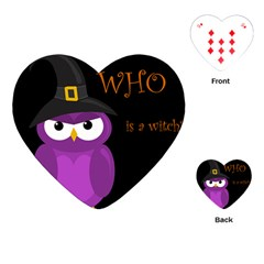 Who Is A Witch?   Purple Playing Cards (heart)  by Valentinaart
