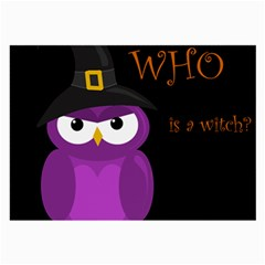 Who Is A Witch?   Purple Large Glasses Cloth by Valentinaart