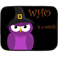 Who Is A Witch?   Purple Double Sided Fleece Blanket (mini)  by Valentinaart