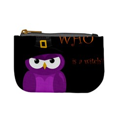 Who Is A Witch?   Purple Mini Coin Purses by Valentinaart