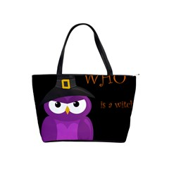 Who Is A Witch?   Purple Shoulder Handbags by Valentinaart