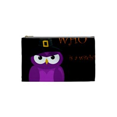 Who Is A Witch?   Purple Cosmetic Bag (small)  by Valentinaart