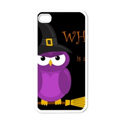 Who Is A Witch?   Purple Apple Iphone 4 Case (white) by Valentinaart