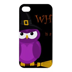Who Is A Witch?   Purple Apple Iphone 4/4s Premium Hardshell Case by Valentinaart