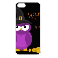 Who Is A Witch?   Purple Apple Iphone 5 Seamless Case (white) by Valentinaart
