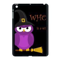 Who Is A Witch?   Purple Apple Ipad Mini Case (black) by Valentinaart