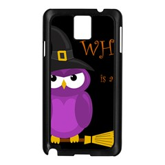 Who Is A Witch?   Purple Samsung Galaxy Note 3 N9005 Case (black) by Valentinaart