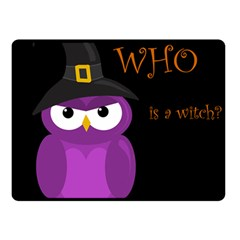 Who Is A Witch?   Purple Double Sided Fleece Blanket (small)  by Valentinaart